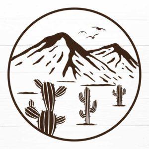 Cactus Mountains SVG