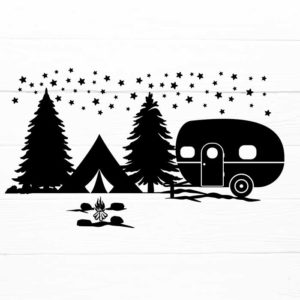 Camper in Forest